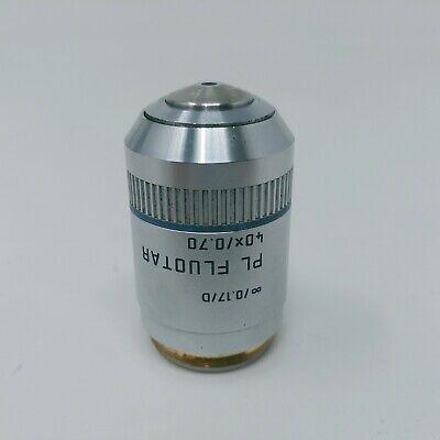 Leica Microscope Objective Pl Fluotar 40x 0.70 506004