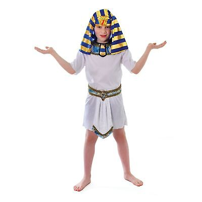 KIDS EGYPTIAN WHITE PHARAOH TUNIC ROBE ONLY - boys childs fancy dress - Pharaoh Kids