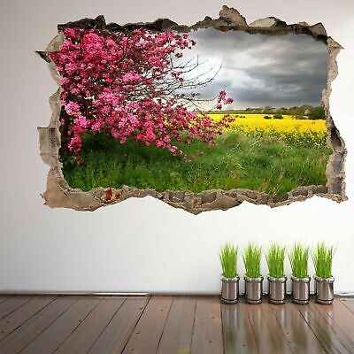 Spring Trees Flowers Wall Art Sticker Decal Mural Home Decor Nature Beauty DS8 ()