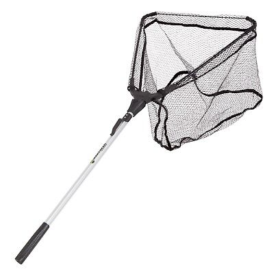 Collapsible Landing Fishing Net with Carry Bag Big Tangle Free with Belt Clip