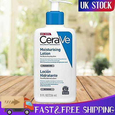 CeraVe Moisturising Skincare Lotion 236 ml Dry Very Dry Skin Ceramides Face Body