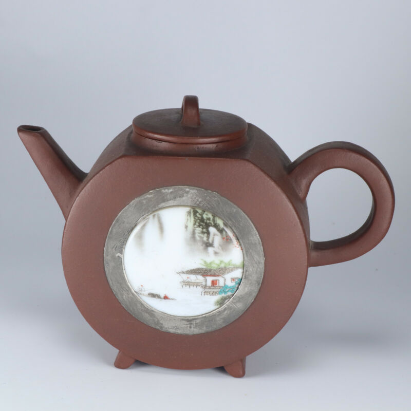 Antique Chinese Collection Yixing Clay Zisha Teapot A176