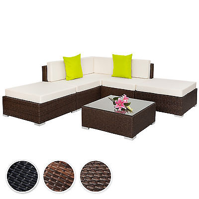 Aluminium poly rotan tuinset zitbank loungeset tuinmeubel sofa tafel