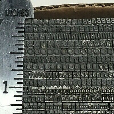 Bernhard Gothic Italic 8 Pt - Letterpress Type - Metal Lead Printing Sorts