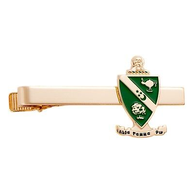 Alpha Gamma Rho AGR Fraternity Gold Color Crest Tie Bar/Clip AGR