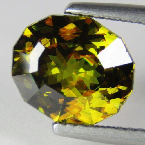 3.30Cts Natural Sparkling Oval Custom Cut Sphene Titanite Loose Gem Gem Ref VDO