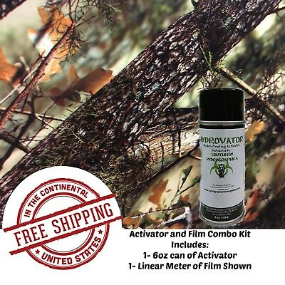 Hydrographic Water Transfer Hydro 6oz Activator 1m Tree Camo 18 Film Dip Kit