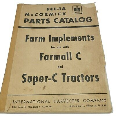 1959 International Harvester Fci-1a Mccormick Parts Catalog Farmall C Super Ih56