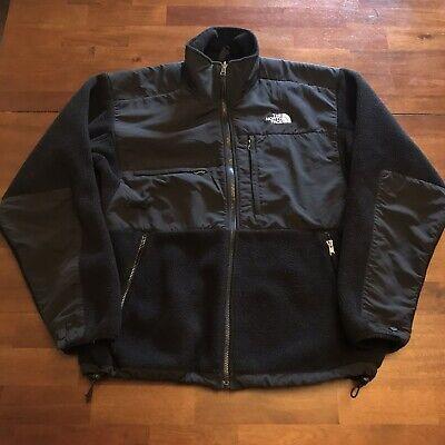VTG North Face Denali Fleece Jacket Liner Men's Medium black Polartec
