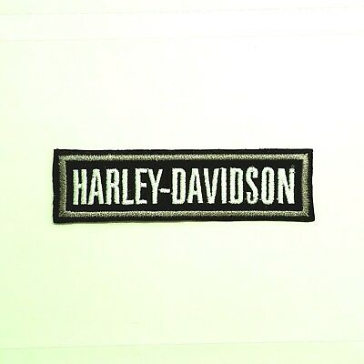 SMALL Harley Davidson SILVER BADGE Patch](Small Harley)