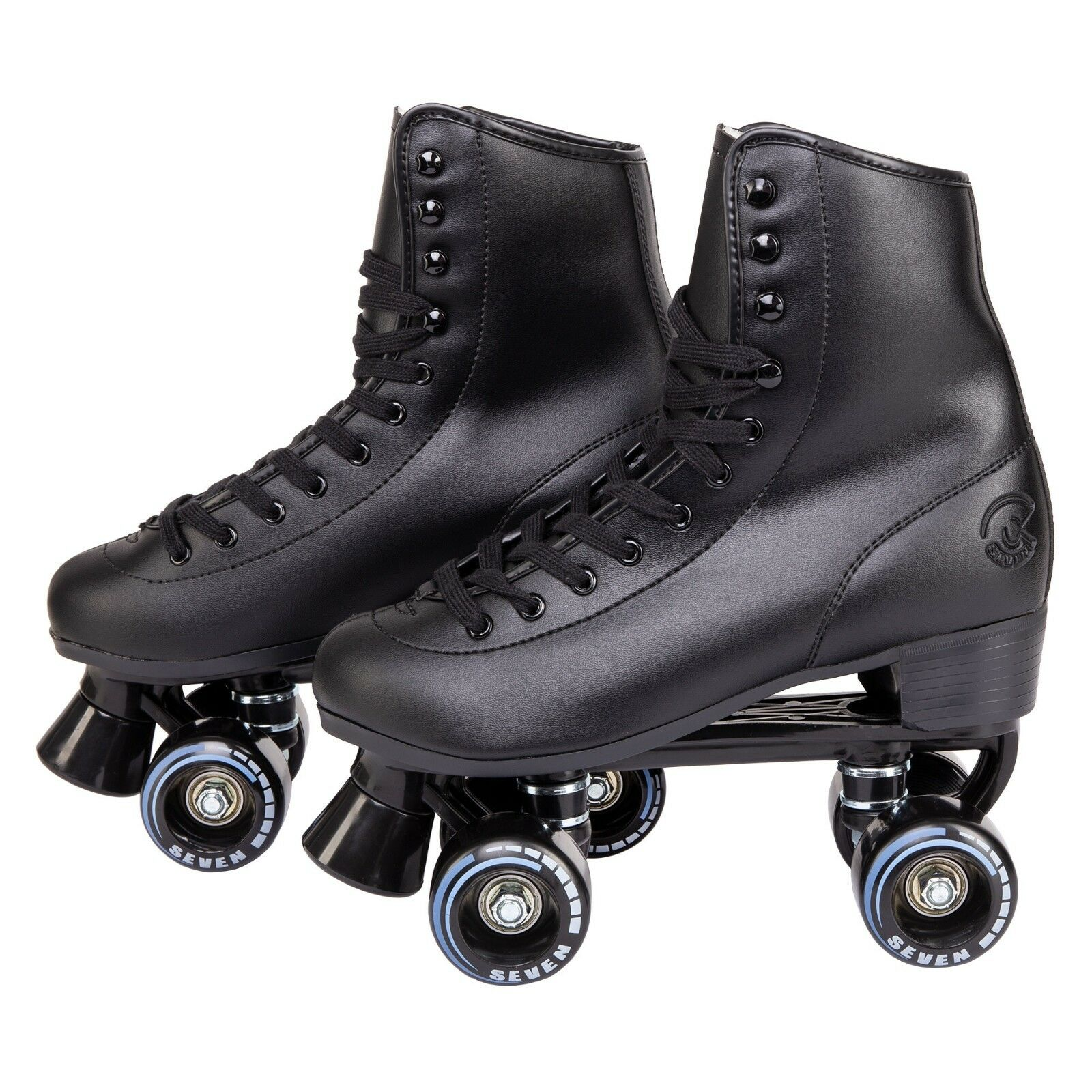 C7skates Soft Faux Leather Indoor Roller Skates Classic Ebon