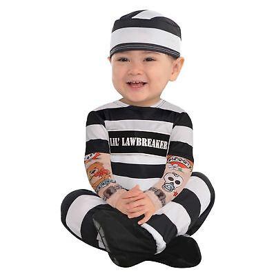 Toddler Baby Lil Gesetz Brecher Sträfling Gefangener Polizisten Räuber