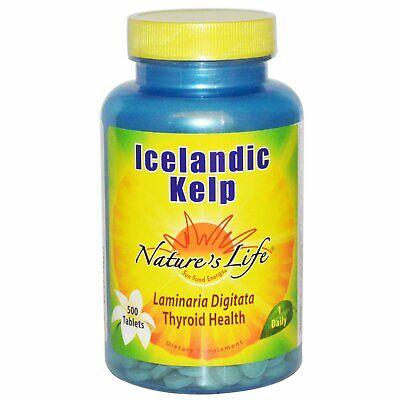 Nature s Life Icelandic Kelp 500 Tablets GMP Quality Assured, Vegetarian