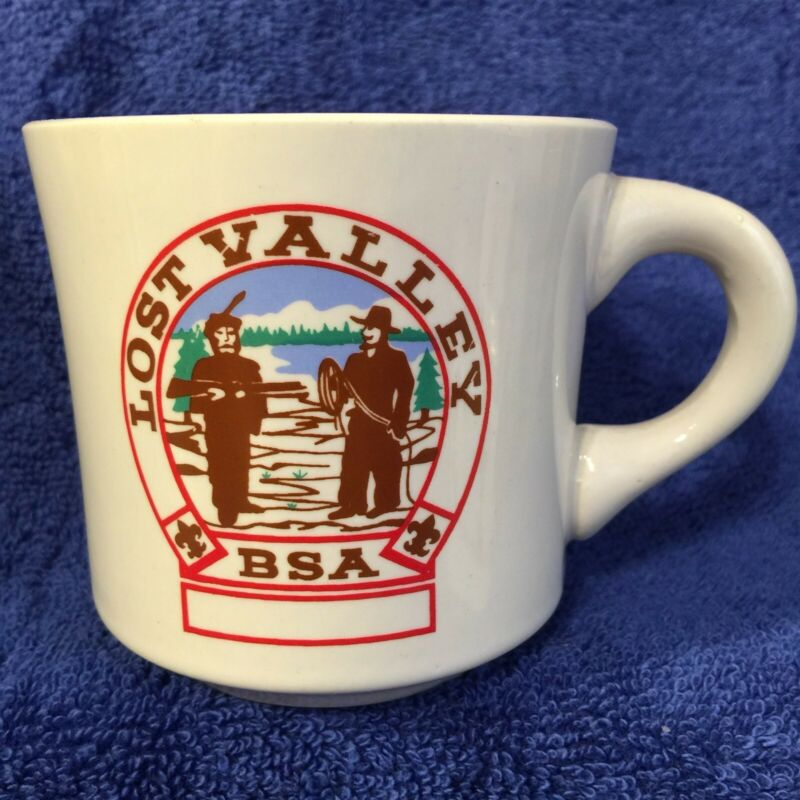 BSA Mug LOST VALLEY brand Schoepe Scout Reservation - chipped - OCC SSRLV