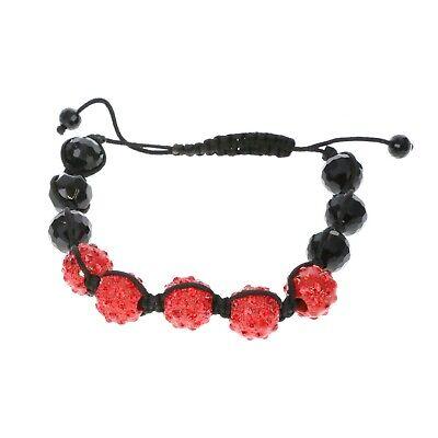 Hip Hop DISCO BALL Bracelet CZ Red Pave Disco Ball Bling Bling Ball Bracelets