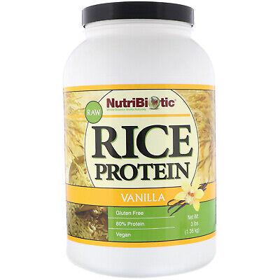 NutriBiotic Raw Rice Protein Vanilla 3 lb 1 36 kg Egg-Free, Gluten-Free, ()