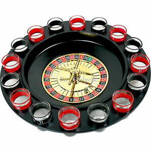 DRINKING ROULETTE PARTY SET SPIN SHOT STAG HEN GAME GLASS GAMES ADULT DRINKING