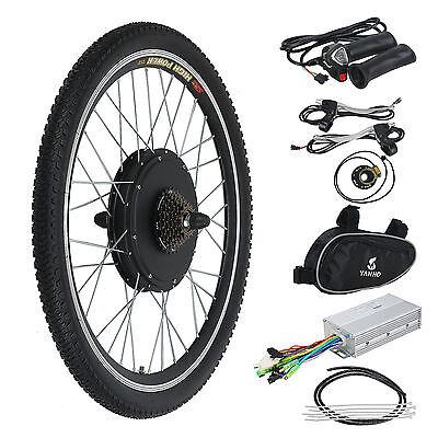 "Electric Bicycle E Bike Motor Conversion Kit 26"" Rear Wheel 48V 1000W Hub Cycle"