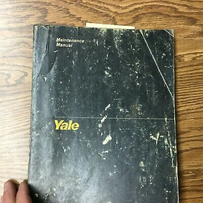 Yale Erc-ta Service Maintenance Repair Manual Electric Fork Lift Truck Guide