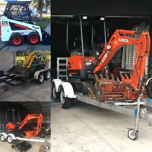From $180 p/day excavator bobcat kanga DIY hire