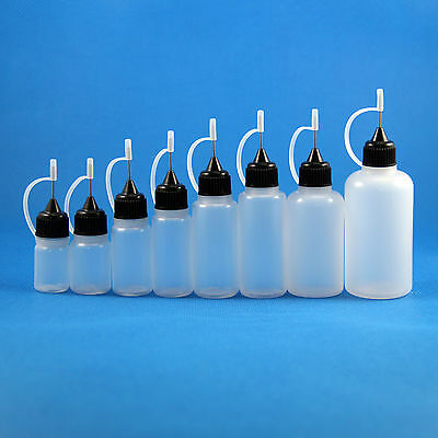 Lot100 3ml 5ml 8ml 10ml 15ml 20ml 30ml 50ml Needle Tip Plastic Dropper Bottle