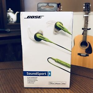 Bose SoundSport In-Ear Headphones - Green (Bluetooth/Apple)