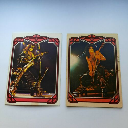 trading cards vintage kiss argentina gene simmons paul stanley