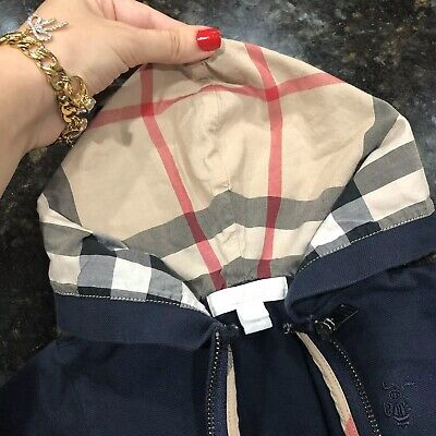 12 Months ( 6m+ ) Authentic Burberry Baby Boy's Zip Up Jacket Hoodie Sweater Kid