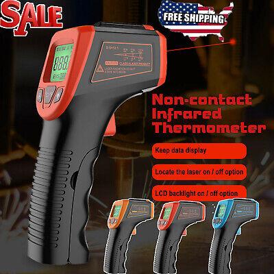 Lcd Ir Temperature Gun Laser Pyrometer Non-contact Digital Infrared Thermometer
