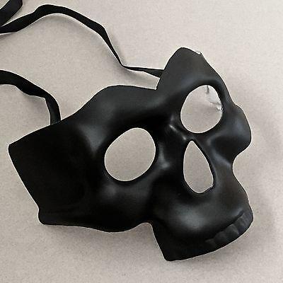 Halloween Black Half Face Skull Costume Masquerade Party Mask