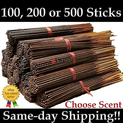 Premium Incense Sticks Aroma Depot Hand Dipped 100 200 500 Pack Pick Amount Bulk - Hand Dipped Incense