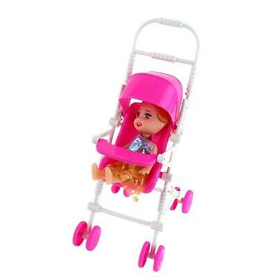 Pink Dolls Pushchair Stroller Toy Doll Pram Buggy Baby -