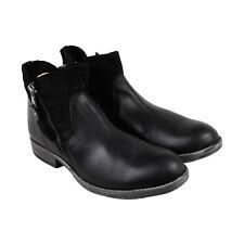 GBX Tacks Mens Black Leather Casual Dress Zipper Boots Shoes
