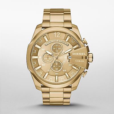 Diesel Mega Chief Champagne Gold-tone Mens Chronograph Watch DZ4360