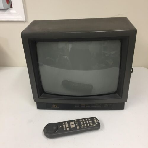 JVC TV Set Model C-13CL3 1992 TV  with Remote 13 Inches Black