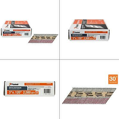 3 In. X 0.120-gauge 30-degree Brite Smooth Shank Paper Tape Framing Nails