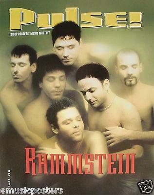 "RAMMSTEIN ""2001 PULSE MAGAZINE"" U.S. PROMO POSTER -Industrial Metal Music"