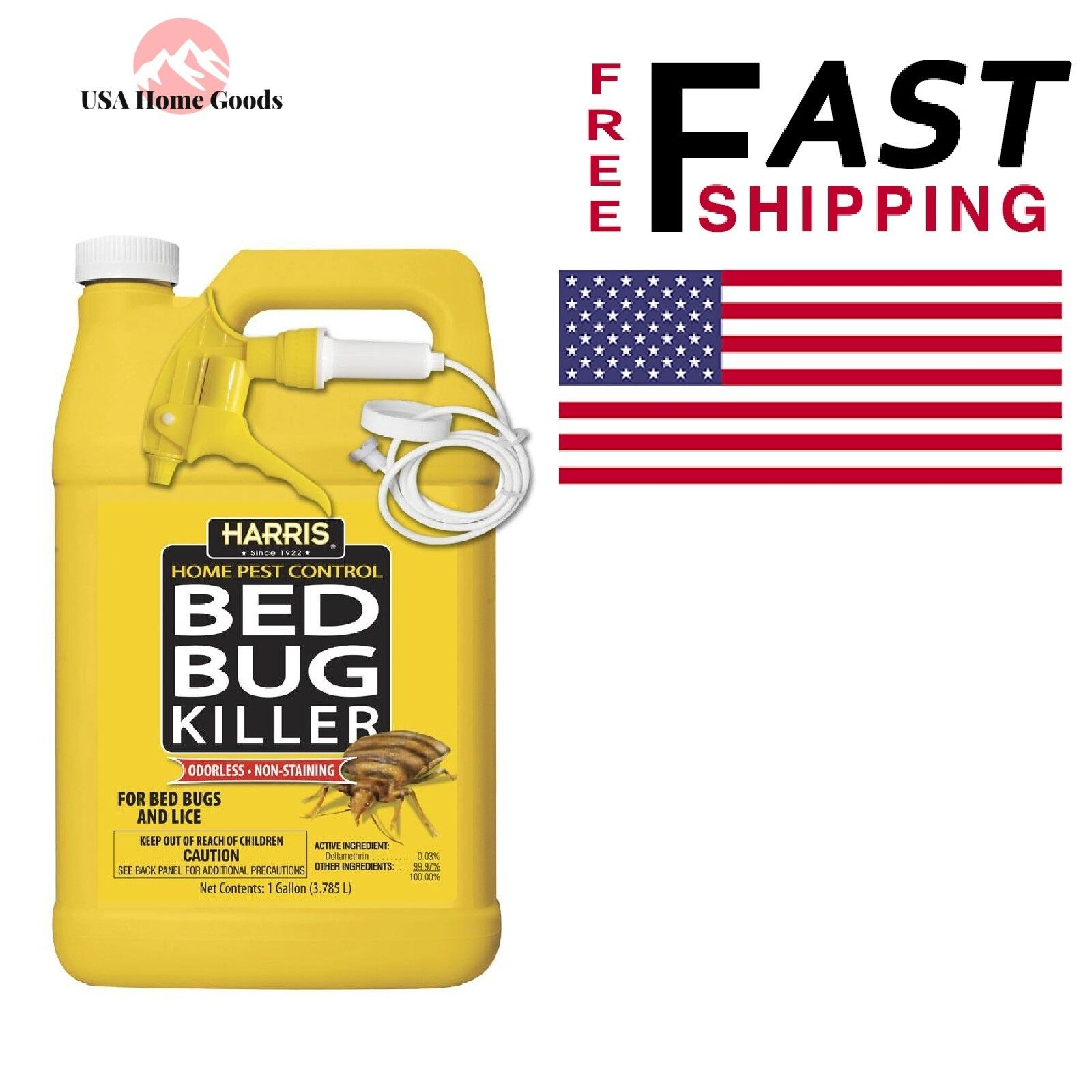 HARRIS Bed Bug Killer, Liquid Spray with Odorless and Non-St