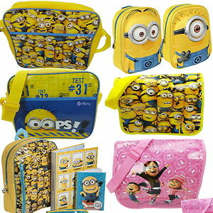 Despicable-Me-Minions-Messenger-School-Bag-New-Gift-Despatch-Backpack-Rucksack