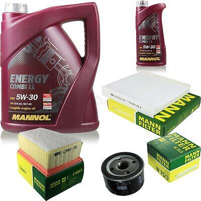 Oil Change Set 6L Mannol Energy Combi Ll 5W-30 + Mann Filter Service 10045650
