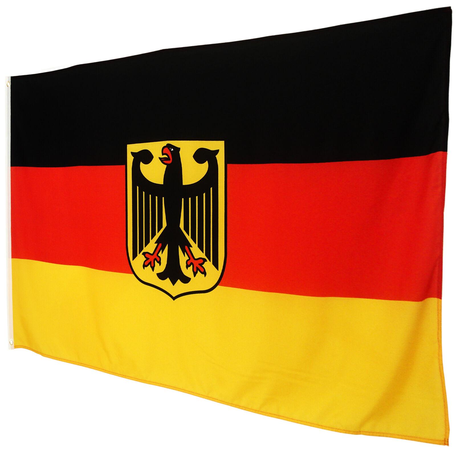 fahne deutschland mit adler 90 x 150 cm deutsche hiss flagge nationalflagge brd eur 3 45. Black Bedroom Furniture Sets. Home Design Ideas