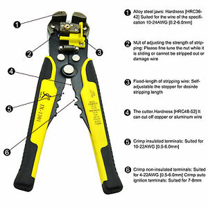 2016-Automatic Wire Cutter Stripper Plier Electrical Cable Crimper Terminal Tool
