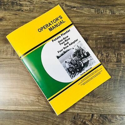 Operators Part Manual For John Deere Potato Planter 1 2 With 4 Row Adapt Owner
