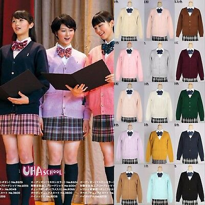 (Japanese School Harajuku Style JK Uniforms Cardigan Long Sleeve Women Sweater )
