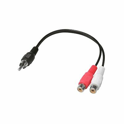 6 inch RCA Male to 2 RCA Female Audio Adapter Y Splitter Cable 6″ Audio Cables & Interconnects