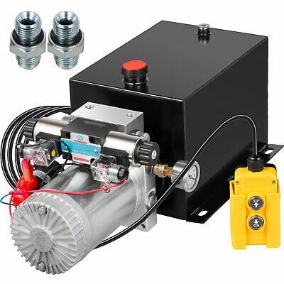 Hydraulic Power Unit Double Acting W Pressure Gauge Hydraulic Pump 8 Quart
