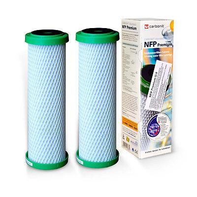 2 Ersatz-wasser-filter (2x Carbonit Aktivkohle NFP Premium U-9 Wasserfilter Ersatzpatrone)