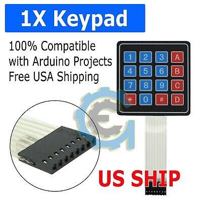 4x4 Matrix 16 Key Membrane Switch Keypad Keyboard For Arduinoavrpicarm