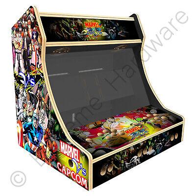 """BitCade 2 Player 24"""" Bartop Arcade Machine Cabinet with Marvel vs Capcom Artwork"""