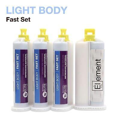 Element Light Body Vps Pvs Dental Impression Material Fast Set 50ml Cartridges